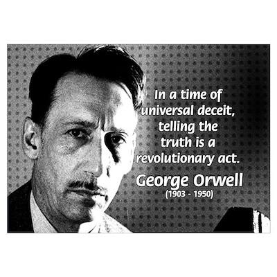 Novelist George Orwell Poster