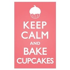 Keep Calm Cupcakes Canvas Art