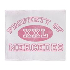 Property of Mercedes Throw Blanket