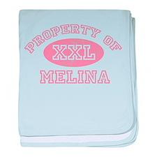 Property of Melina baby blanket