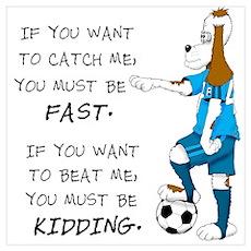 Soccer Dog Poster
