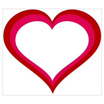 Red and Pink Heart Framed Print