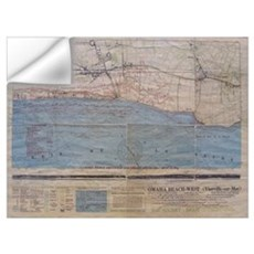 Omaha Beach D-Day Map Wall Decal