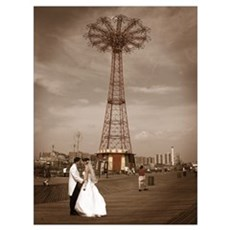 Coney Island Wedding Poster