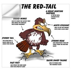 The Red-tail Wall Decal