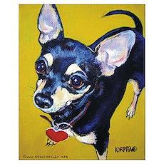 Itty Bitty Chihuahua Poster