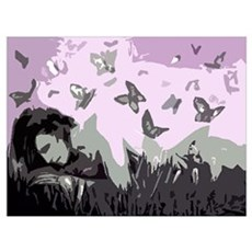 butterfly woman design Poster