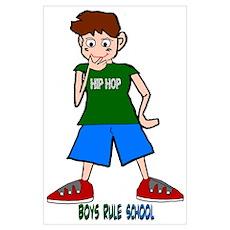 Boys Rule School Poster