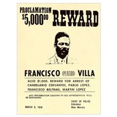 Wanted Pacho Villa Poster