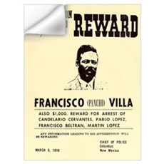 Wanted Pacho Villa Wall Decal