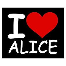 I LOVE ALICE (blk) Poster