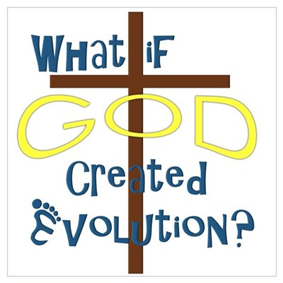 What if God Created Evolution? Canvas Art