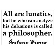 Bierce Philosophers Poster