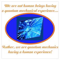 Quantum Mechanics quotes&Jokes Poster