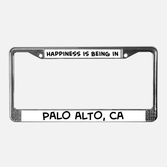 Happiness is Palo Alto License Plate Frame