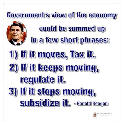 Reagan Govt View of Economy Poster