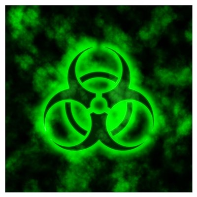 Green Glow Biohazard Canvas Art