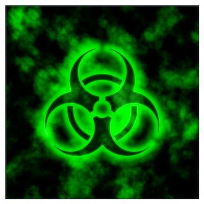 Green Glow Biohazard Poster