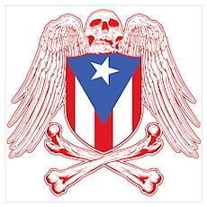 Puerto Rico Crossbones Poster