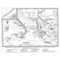Wanderings of Aeneas Map Wall Decal