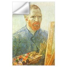 Van Gogh Self Portrait Easel Wall Decal