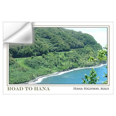 Road to Hana Curves (11x17) Wall Decal