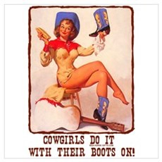 Cowgirls Do It Boots Canvas Art
