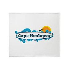 Cape Henlopen DE - Surf Design Throw Blanket