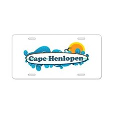 Cape Henlopen DE - Surf Design Aluminum License Pl