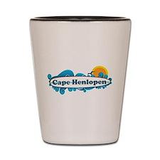 Cape Henlopen DE - Surf Design Shot Glass