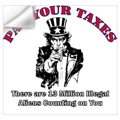 Pay Your Taxes Wall Decal