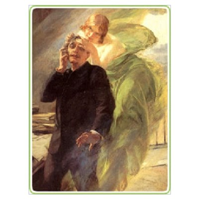 Albert Maignan - Green Muse Framed Print