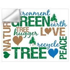 Live Green Montage Wall Decal