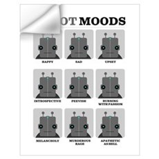 Robot Moods Wall Decal