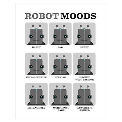 Robot Moods Poster