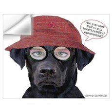 Black Lab Optometrist Wall Decal