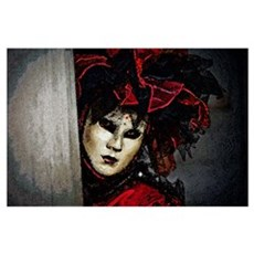 Mardi Gras Mask Art Poster