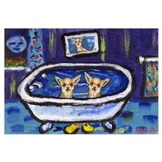 CHIHUAHUA bath Canvas Art