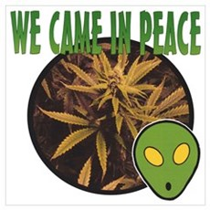 WE CAME IN PEACE Poster
