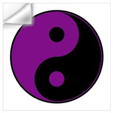 Purple-Black Yin Yang Wall Decal