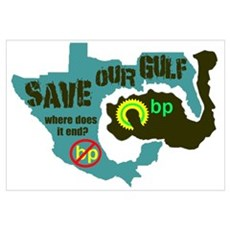 Save Our Gulf 2 Framed Print