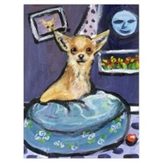 Chihuahua in Bed Poster