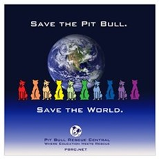 Save the Pit Bull Poster