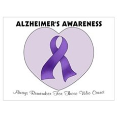 Alzheimer's Awareness Canvas Art