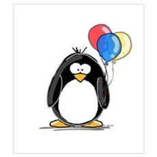 Primary Balloons Penguin Canvas Art
