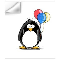 Primary Balloons Penguin Wall Decal