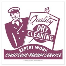 Dry Cleaning Poster