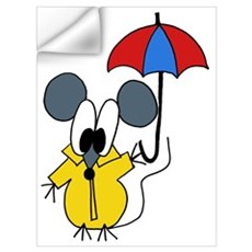 Rainy Day Mouse Wall Decal