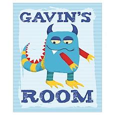 Gavin's ROOM Mallow Monster Poster