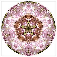 Pink Flower Mandala Poster